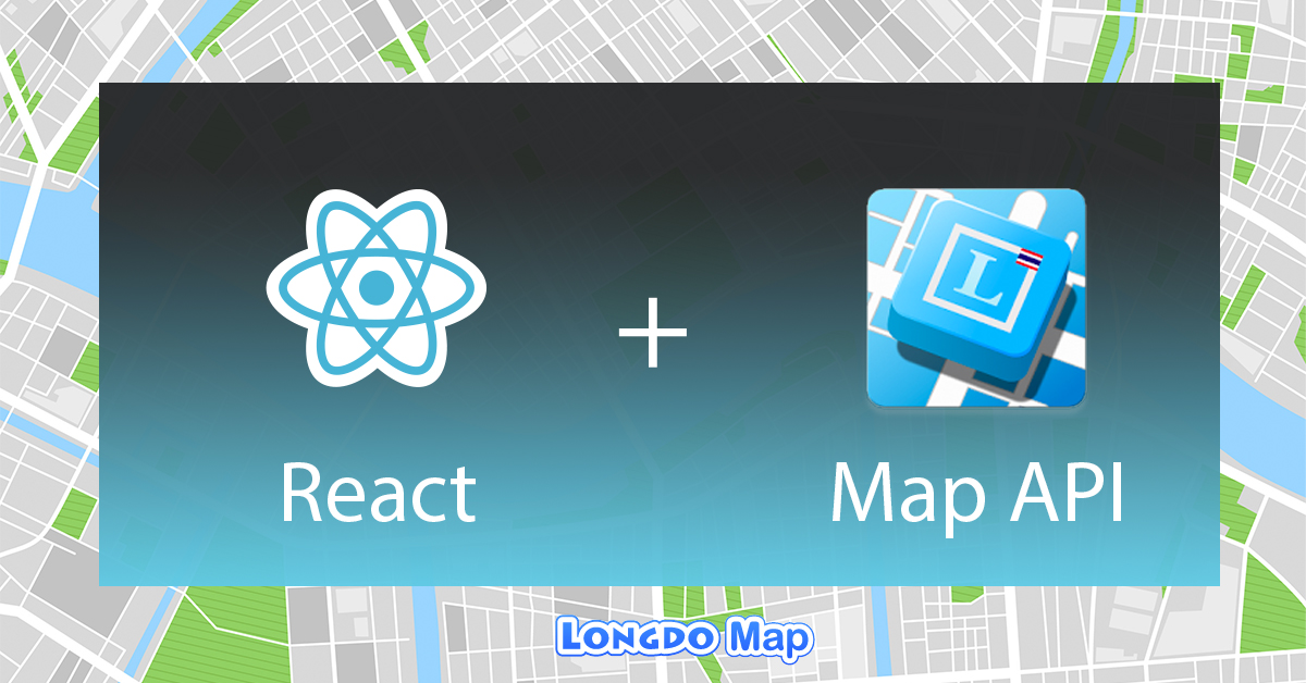 react longdo map api